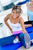 Gym woman stretching Royalty Free Stock Images