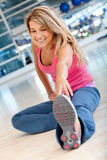 Gym woman stretching Royalty Free Stock Image