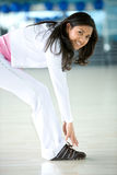 Gym woman stretching Royalty Free Stock Photos
