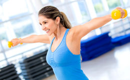 Gym woman working out Stock Photo