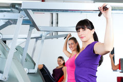 Gym women doing strength or fitness training Royalty Free Stock Image
