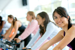 Gym women exercising Royalty Free Stock Photo