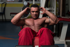 Gym Workout For Abs Stock Photography