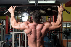 Gym Workout For Back Stock Photos