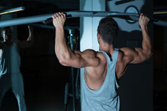 Gym Workout For Back Stock Photo