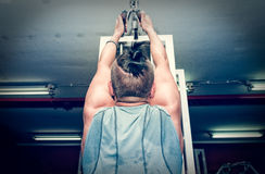 Gym workout. Bodybuilding woman workout in the gym. Royalty Free Stock Photos