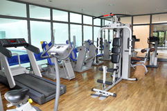 Gym workout equipment Royalty Free Stock Images