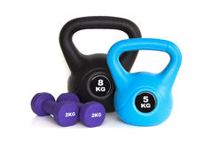 Gym workout equipment Stock Image