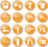Gym workout icon set Stock Image