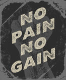 Gym and workout poster design. Royalty Free Stock Photos