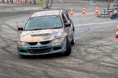 Gymkhana Drift car. Drift Gymkhana car 2016 Hungary Mitsubishi Sport Royalty Free Stock Photo
