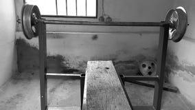 Gymnase à la maison image stock