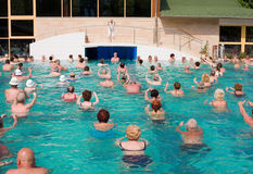 Gymnase dans la piscine Photographie stock