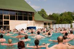 Gymnase dans la piscine Image libre de droits