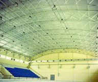 Gymnasium. A gymnasium empty light high space royalty free stock image