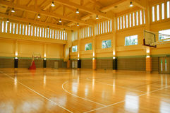 The gymnasium. A gymnasium empty light high space stock image