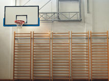 Gymnasium. With basket and two goals royalty free stock photo