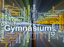 Gymnasium background concept glowing Royalty Free Stock Images