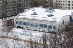 Gymnasium building in Bibirevo district. Moscow. Stock Image