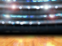 Gymnasium. 3d rendering wooden floor in gymnasium background stock photography