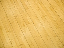 Gymnasium floor. Boards on old gymnasium floor royalty free stock photography
