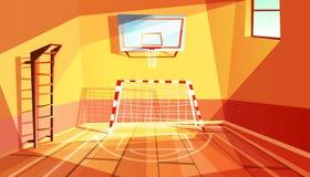 Gymnasium or gym hall vector illustration stock illustration