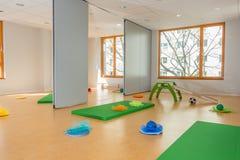 Gymnasium in kindergarten and school stock photography