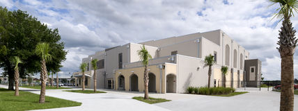 Gymnasium at New High School Stock Photography