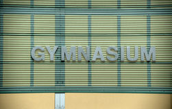 Gymnasium Sign Royalty Free Stock Images
