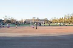 The gymnasium of Tsinghua University. Royalty Free Stock Images