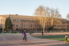 The gymnasium of Tsinghua University. Stock Photos