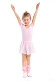 gymnast κοριτσιών ανασκόπησης απομόνωσε το λευκό στοκ εικόνα με δικαίωμα ελεύθερης χρήσης