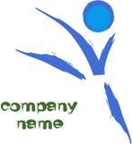 gymnast λογότυπο Στοκ Εικόνες