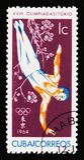 Gymnast, 18οι Ολυμπιακοί Αγώνες στο Τόκιο, circa 1964 Στοκ Εικόνα