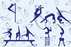 gymnast Royalty-vrije Stock Afbeeldingen