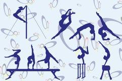 gymnast Royalty-vrije Illustratie