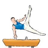 gymnast Στοκ Εικόνα