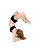 Gymnast arching backwards on forearms Royalty Free Stock Photo