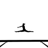 Gymnast on balance beam Stock Image