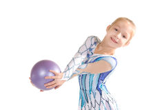 Gymnast with the ball Royalty Free Stock Photos