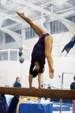 Gymnast on beam Royalty Free Stock Photos