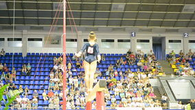 Gymnast on the beam, Ukraine Nation CUP (Stella Zakharova Cup) 2015, stock footage