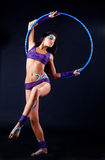 Gymnast with bodyart Royalty Free Stock Photos