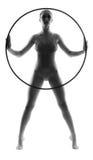 Gymnast bonito da jovem mulher fotografia de stock