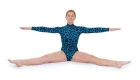 Gymnast che fa una spaccatura Immagine Stock Libera da Diritti