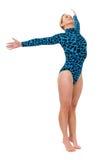 Gymnast che si leva in piedi sulle sue punte Fotografia Stock Libera da Diritti