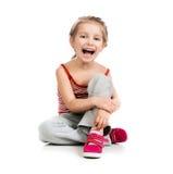 Gymnast da menina fotografia de stock