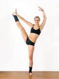 Gymnast da menina Imagens de Stock Royalty Free