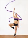 Gymnast da menina Imagens de Stock