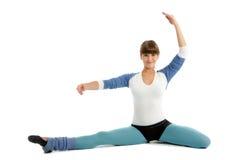 Gymnast da mulher nova Fotografia de Stock